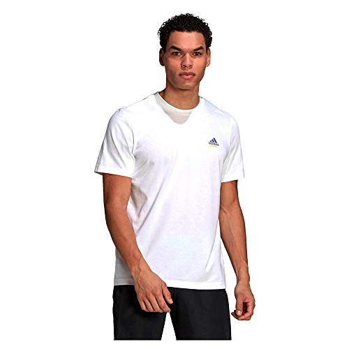 adidas GN8056 M SS Q2 tee RG T-Shirt Mens White 2XL