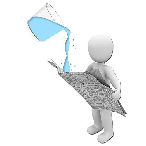 Gone - Wasserzeitung Zaubertrick | Wasser in Zeitung verschwinden lassen | Zaubertricks für den Kinder-Entertainer | Zaubern Lernen, Zauberartikel | Liquid from Newspaper | Water Vanish | Comedy Magic