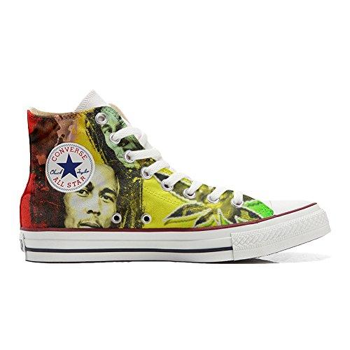 Sneaker & Sportschuhe USA - Base Print Vintage 1200dpi - Italian Style - Hi Customized personalisierte Schuhe (Handwerk Schuhe) Bob Marley TG42