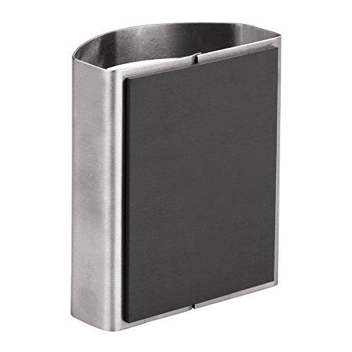 mattsilberfarben magnetischer Becher f/ür Stifte und andere Utensilien iDesign Stiftehalter kleiner Schreibtisch Organizer aus Edelstahl