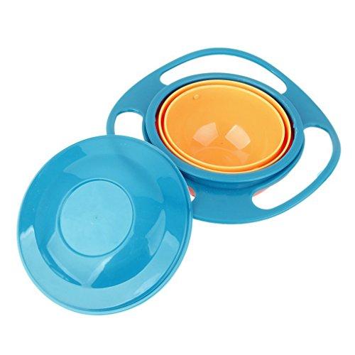 Masterein Non Spill Feeding Toddler Gyro Bowl 362 Rotating for Baby Kids Avoid Food Spilling