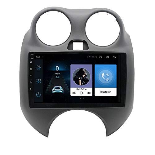 ADMLZQQ Android Coche Radio GPS para Nissan March 2010-2015 9 Pulgadas Pantalla táctil Completa Soporte Bluetooth/FM/USB/Mirror Link/SWC + Cámara Trasera,8 Cores 4g+WiFi:2+32g