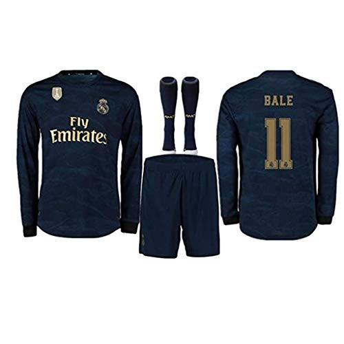 DGSFES Herren Fußball Trikot Set weiße Kleidung-11# Gareth Bale Unisex Trainingsuniform Künstler Trikot professionelle technische Kleidung Langarm Fans Sweatshirt, Geburtstagsgeschenk-A-S