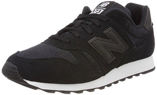 New Balance 373, Sneaker Donna, Nero (Black/White 048), 39 EU
