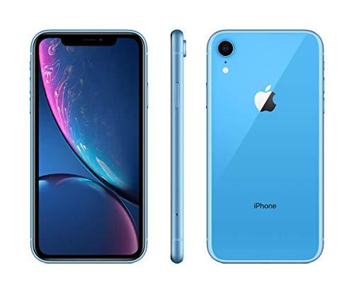 Apple iPhone XR (64GB, Blue) [Locked] + Cricket Wireless Plan