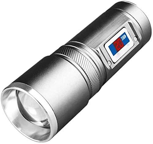 XUERUIGANG Linterna LED Recargable - linternas multifunción, Resistente al Agua, 3 Modos de luz, Linterna LED para Senderismo, Camping, emergencias, hogar