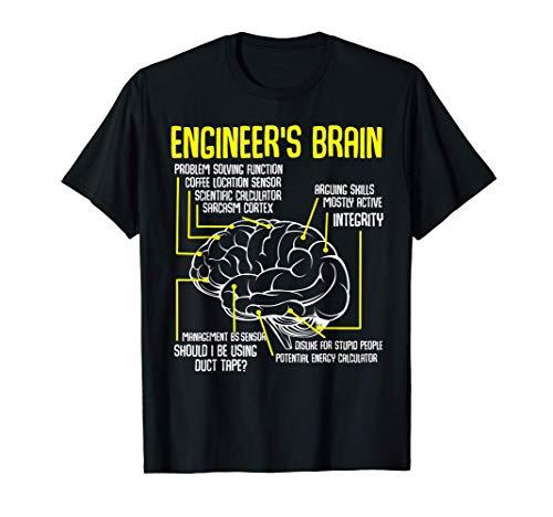 Engineer's Brain Divertidos juegos de ingeniería Proceso Camiseta