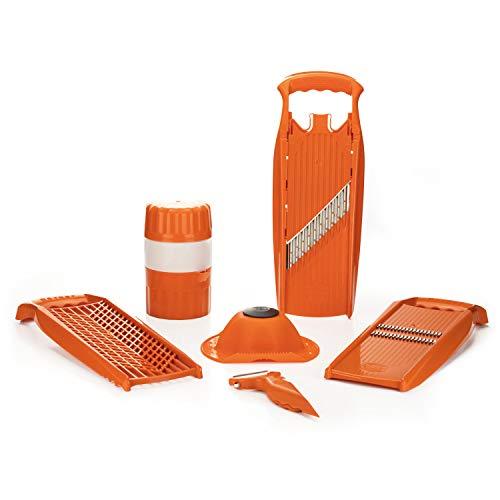 Börner Reiben-Set Spezial in orange - Küchenhelferset - Slicer - Saftpresse