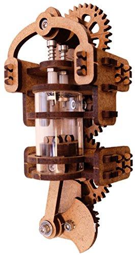 YouMake Viertaktmotor Bausatz / Verbrennungsmotor / Ottomotor / Lehrmittel / Lernspielzeug - Ohne Kleben - Umweltfreundlicher Holzbausatz - Soziale Produktionsbedingungen - Guter Kundenservice - Made in Germany - Mit Montagewerkzeug! - Ideal für Schüler während der Corona-Zeit!