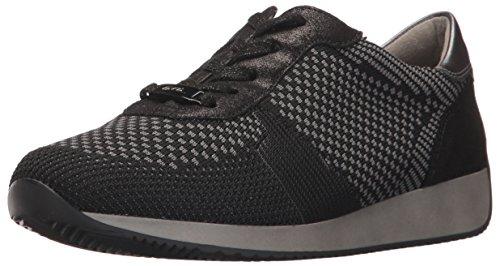 ARA Women's Lilly Sneaker, Black Woven, 7.5 M US
