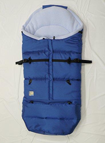 Kutnik Saco de abrigo universal polar para silla de paseo - Azul Marino Claro & Azul Claro