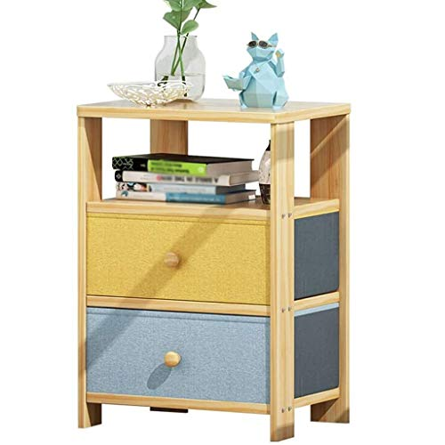 JJZXD Nightstand, End Table Side Table File Cabinet Storage Table for Home Office Bedside Cabinets (Size : M)