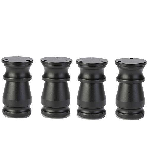 ACZZ Pie ajustable para muebles, aluminio, mueble de baño Diy, mesa de centro, sofá, patas para pies, 8-15 cm,Negro,15cm