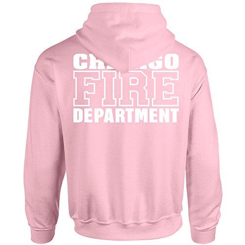 Chicago Fire Dept. - Pullover in Rosa (L, Rosa)