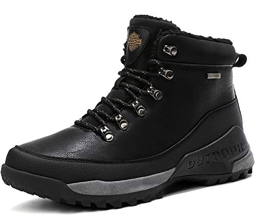 AX BOXING Hombre Botines Zapatos Botas Nieve Invierno Botas Impermeables Fur Forro...