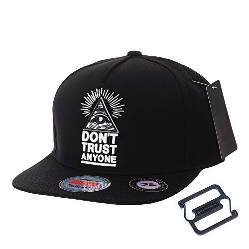 WITHMOONS Gorras de béisbol Gorra de Trucker Sombrero de Snapback Hat Illuminati Patch Hip Hop Baseball Cap AL2390 (Black)