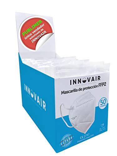 Mascarilla Protectora FFP2 NR INNOVAIR - 10 Unidades - Fabricación 100% Española CE 2797-5 capas (10 ud Negro)
