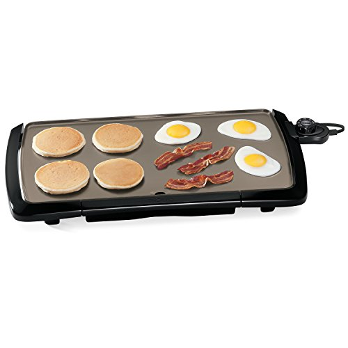 "Presto 07055 Cool-Touch Electric Ceramic Griddle, 20"", Black"