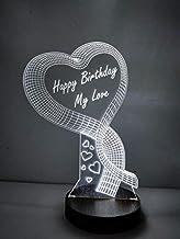 Design Elle Acrylic Multi Colour 3D Illusion LED Night Lamp Best Birthday Gift for Girlfriend Husband Wife Boyfriend her him