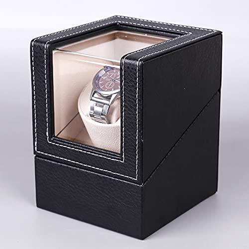 MUY fábrica al por Mayor + Caja de Motor de bobinado automático de Cuero de PU agitador de una Sola Cabeza Reloj de Giro Caja de Reloj Caja de recuerd