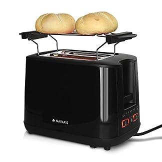 Navaris-Doppelschlitz-Toaster-mit-Broetchenaufsatz-2-extragrosse-Toast-Schlitze-6-Stufen-automatische-Brotzentrierung-1000W-Weiss