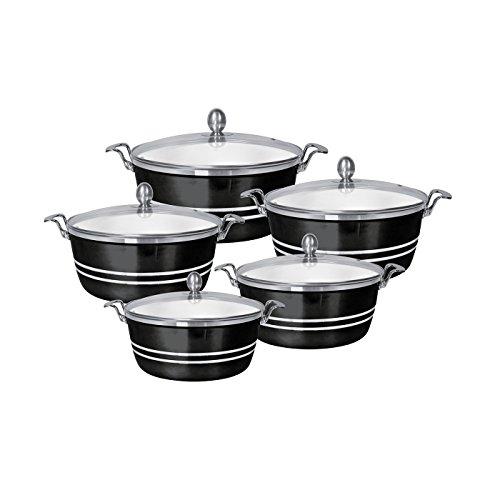 SQ Professional - Set di piatti in ceramica pressofusa, 5 pezzi