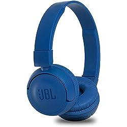 JBL T450BT Cuffie Sovraurali Bluetooth, Cuffie On Ear Wireless con Microfono e Comandi su Padiglione, JBL Pure Bass Sound, Leggere e Pieghevoli, Da Viaggio, Fino a 11h di Autonomia, Blu