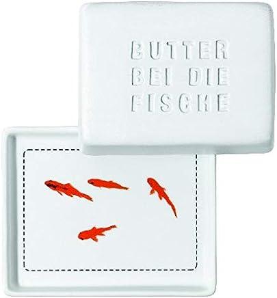 """Breakfast Butterdose, klein """"Butter bei die Fische"""" preisvergleich bei geschirr-verleih.eu"""