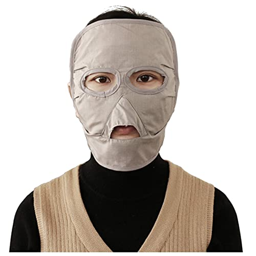 CEXTT Máscara de protección contra radiación electromagnética 100% Cubierta de Cabeza de Fibra de Plata Anti-acné Protección de radiación, computadora, TV, WiFi EMF blindaje, Estilo Corto