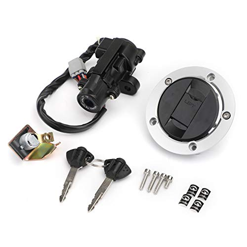 Artudatech Ignition Switch Fuel Gas Cap Seat Lock Keys for Suzuki GSXR 600 750 2006-2018 GSXR 1000 2005-2018 L650 V-Strom 2012-2016 DL1000 V-Strom 2014-2016