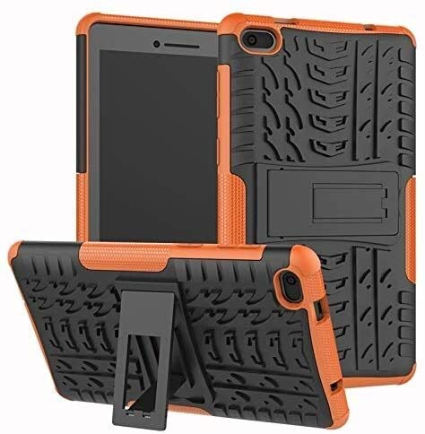 GZA Tablet Cases for Lenovo Tab E7 7.0 Inches, Hyun Pattern Dual Layer Hybrid Armor Kickstand 2 in 1 Shockproof Cover, Model (Color : Orange)