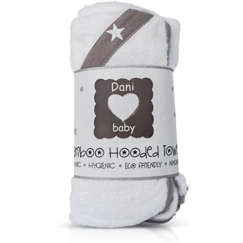 Organic Bamboo Baby and Toddler Hooded Bath Towel | Super Soft, Hypoallergenic, Extra Absorbent...