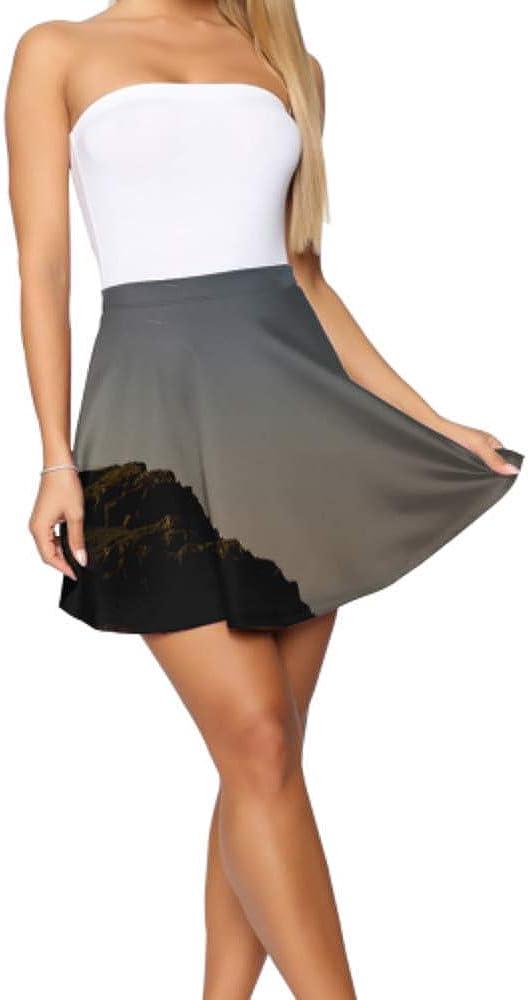 School Skater Skirt Beautiful Lighthouse Landscape Print Skirt Mini Women's Basic Casual Mini Skirt for Women S-XL