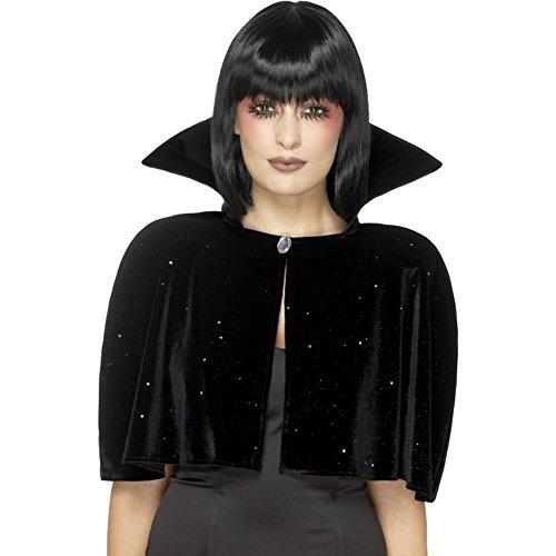 Halloween! Smiffys Böse-Königin-Umhang, Schwarz