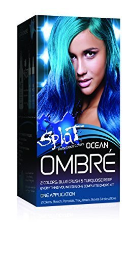 Splat Rebellious Colors Hair Coloring Complete Kit Ocean Ombre by Splat
