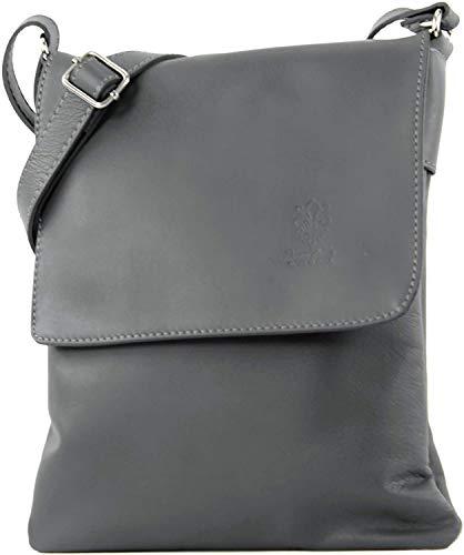 Craze London Womens New Suede Croc Italian Genuine Leather Flat Envelope Clutch Bag Wrist Bag (Dark Grey)
