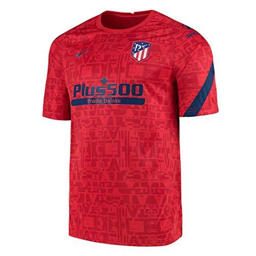 Nike 2020-2021 Atletico Madrid Pre-Match Dry Training Football Soccer T-Shirt Jersey (Red)