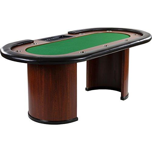 """Maxstore Pokertisch """"Royal Flush"""", 213 x 106 x75 cm, Farbwahl, Gewicht 58kg, 9 Getränkehalter, gepolsterte Armauflage, grün"""