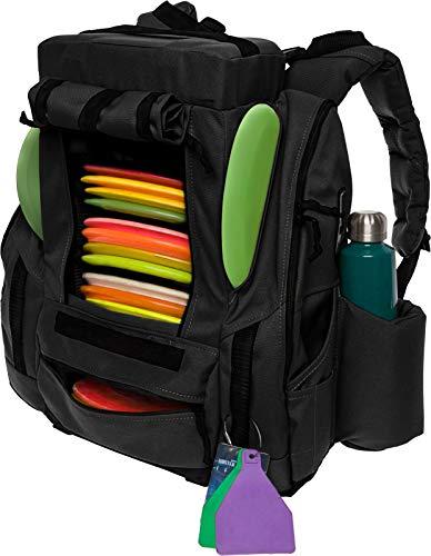 BagLane Fusion Elite Disc Golf Backpack Bag w/Seat & Cooler- 25+ Capacity (Black)