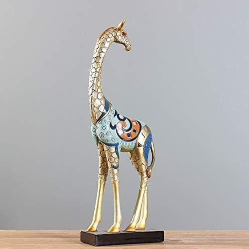 LGYKUMEG Skulpturen und statuen skulptur Giraffe Dekoration Statue Tier dekor Handwerk kreative Wohnzimmer möbel tv Dekoration harzornamente Dekoration...