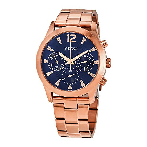 Guess Quartz blauwe wijzerplaat dames multifunctionele horloge W1295L3
