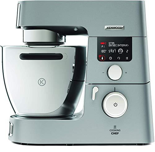 Kenwood Cooking Chef KCC9060S - Robot de Cocina por Inducción (20 - 180º), 1500W, Pantalla LCD, Bol de 6.7L, Incluye Batidora de Vaso ThermoResist, Procesador de Alimentos y Accesorios Inox Premium