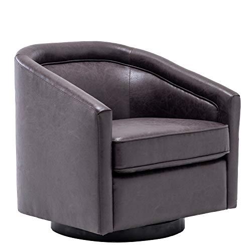TITLE_WOVENBYRO Classic Barrel Swivel Chair