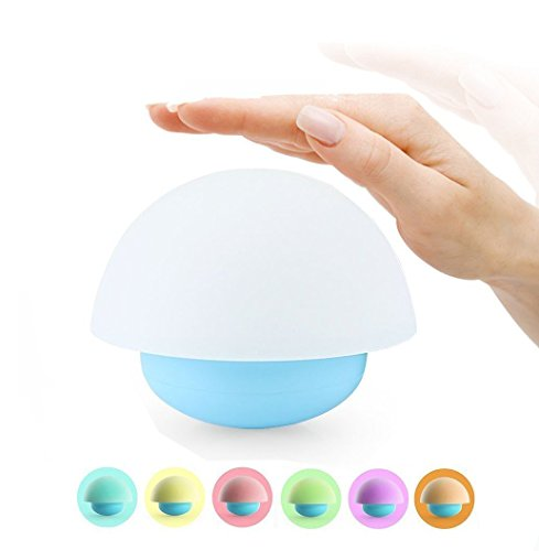 LED Nachtlicht kinder, ThorFire Mini Berührungssensor dimmare Atmosphären-Lampe Pilz Lampe Bettlampe Tumbler, 3Modi dimmbares Warmweiß/Farbwechsel mit Touch Schalter Babyzimmer,Schlafzimmer, Wohnzimme