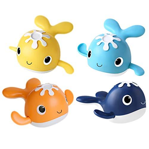 TOYANDONA 4Pcs Juguetes de Baño para Bebés Ballenas de Plástico Juguete Flotante Seguro Flotante Animal Marino Juguete de Baño Piscina Playa Juguete Favor de Fiesta para Niño Pequeño Bebé