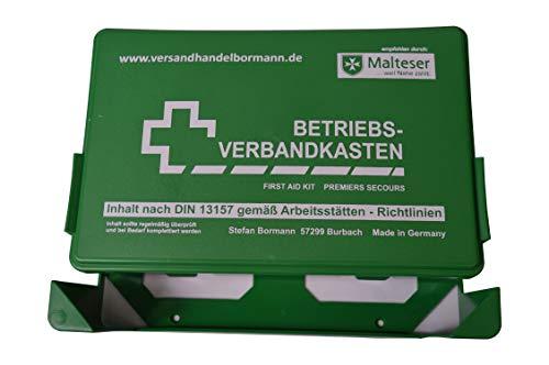 sterni1945 1 Stück Betriebsverbandkasten Grün Inhalt nach DIN 13157 gemäß Arbeitsstätten - Richtlinien Verbandskasten 1.Hilfe Verbandkasten mit Wandhalterung Verbandkasten