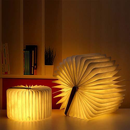 IWILCS LED Buch Licht, Faltbare Buchlampe 5 Farbmodi LED Stimmungsbeleuchtung USB aufladbare Schreibtisch Buch Licht Nachtlicht Nachttischlampe für Kinder Freundin Geschenk Home Decor