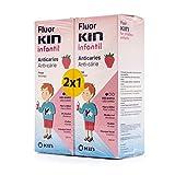 FluorKin Colutorio Infantil Anticaries Fresa 500ml + 500ml