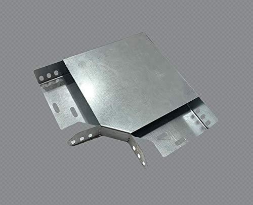 IPOS Kabelrinne Kabelkanal Zubehör Kabeltrasse Verzinkt Metallkanal Kabelpritsche (Deckel - 90° Bogen 200er)