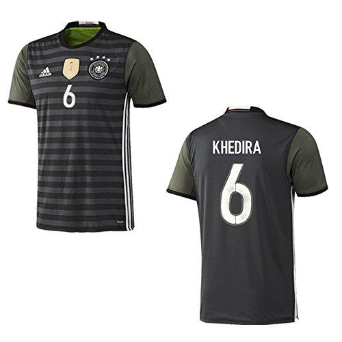 adidas DFB DEUTSCHLAND Trikot Away Herren EURO 2016 - KHEDIRA 6, Größe:S